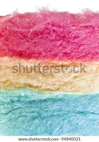 cotton sweet candy texture on white - stock photo