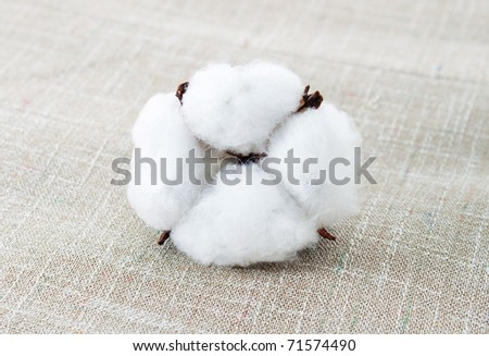 Cotton texture for the scrapbook - stock photo