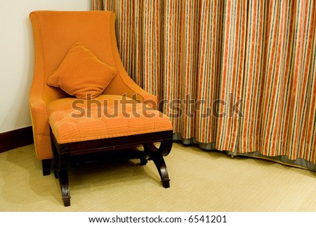 Couch in the corner of a room - stock photo