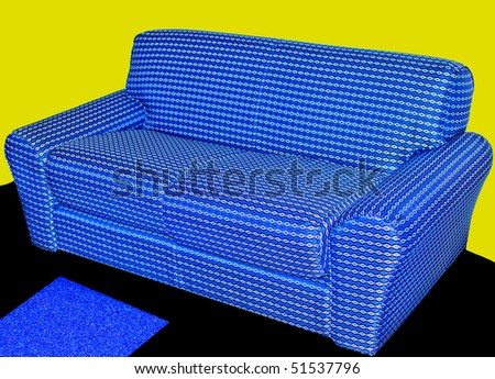 Couch with Yellow Background
