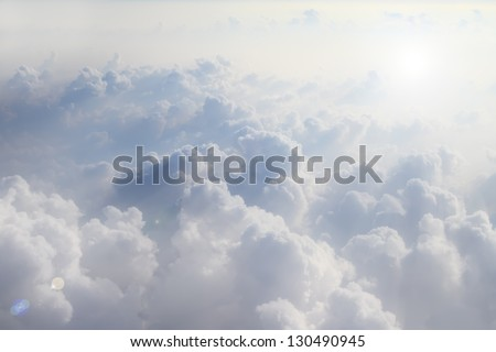 could view image from window of air plane - stock photo