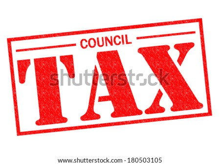 COUNCIL TAX red Rubber Stamp over a white background. - stock photo