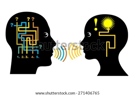 Counseling Concept. Concept sign of a counselor giving support to a person who is making important decision - stock photo