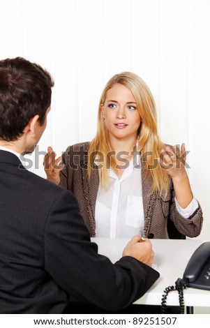 counseling session. consultation and discussion with consultants and customers. - stock photo