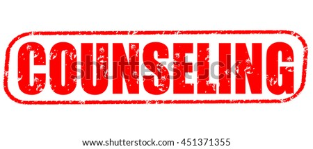 counseling stamp on white background. - stock photo