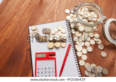 count coins with calculator