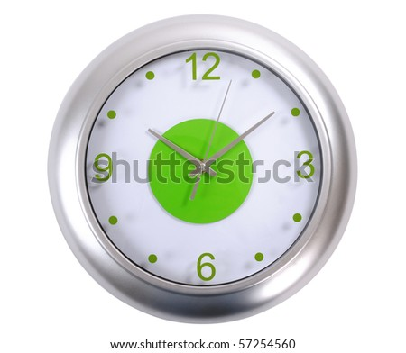 Countdown time. Isolated - stock photo