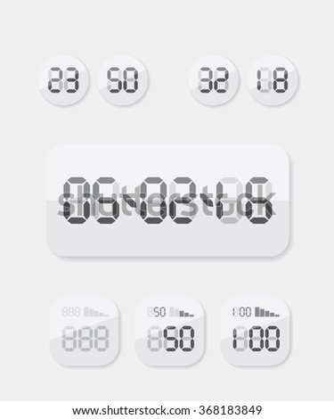 Countdown Timer date and clock illustration