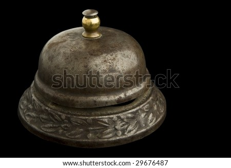 counter bell - stock photo