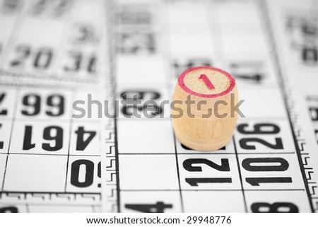 Counter number one bingo against game cards