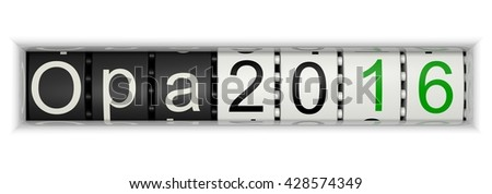 Counter with Opa 2016, 3D Illustration - stock photo