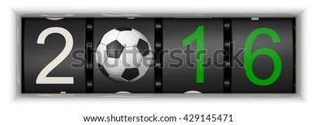 Counter with Soccer 2016, 3D-Illustration - stock photo