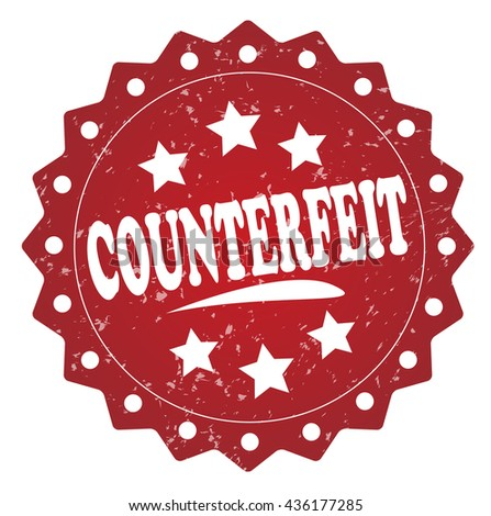 counterfeit grunge stamp - stock photo