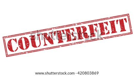 counterfeit stamp - stock photo