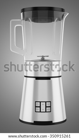 countertop blender isolated on gray background - stock photo