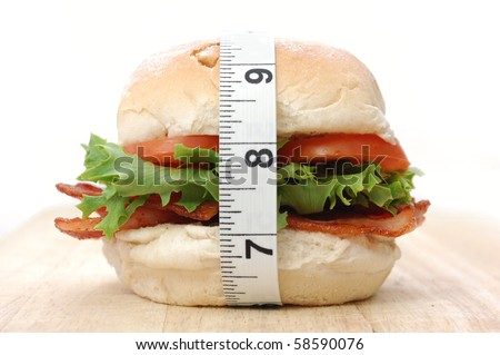 Counting calories - stock photo