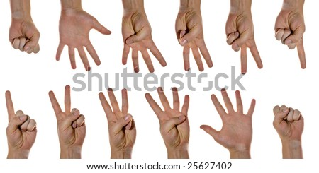 Counting Hands - stock photo