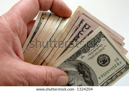 Counting the Money - stock photo