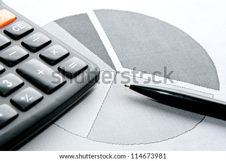 counting the percentage of shares - stock photo