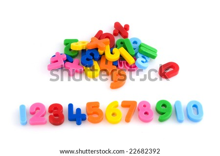 counting with colorful number to ten