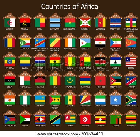 Countires of Africa - stock photo