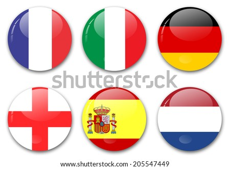 countries from europe - stock photo