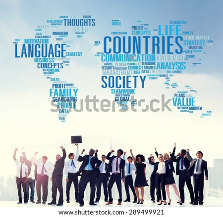 Countries International Diversity Language Society Concept - stock photo