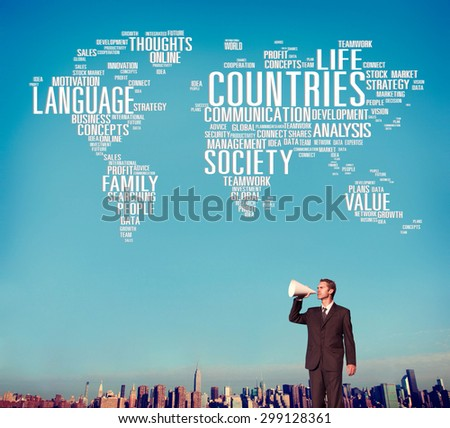 Countries Language International Diversity Global Concept - stock photo