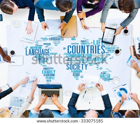 Countries Language International Ethnicity Concept - stock photo
