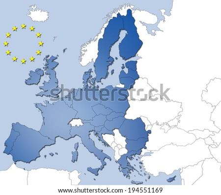 Countries of the European Union - stock photo