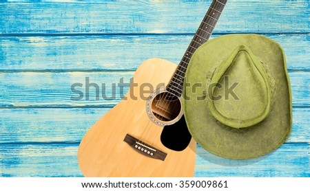 Country and Western Music. - stock photo