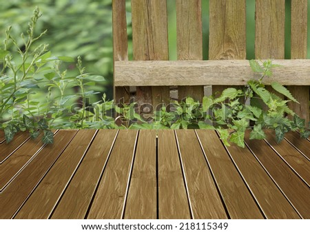 Country background with wooden boards