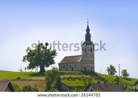 Country church in Slovenia