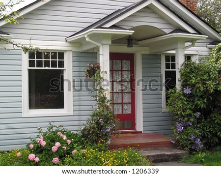 Country Cottage - stock photo
