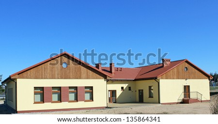 Country day room in Poland - stock photo