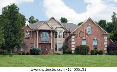 Country Estate Brick House - stock photo