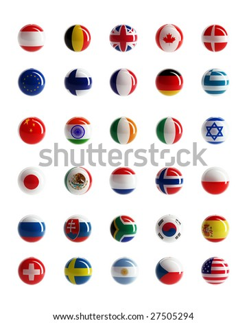 Country flags web buttons