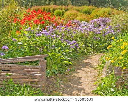 country garden landsaft design landscape - stock photo