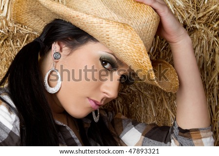 Country Girl Wearing Hat