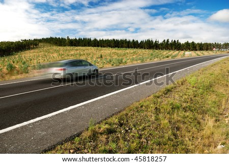 Country Highway at the Galicia (Spain) - stock photo