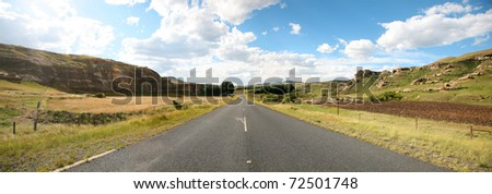 Country Highway on The Famous Garden road in South Africa - stock photo