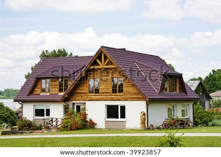 country house, cottage - stock photo