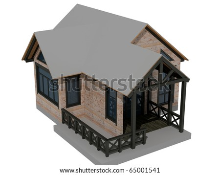 Country house images 3D - stock photo