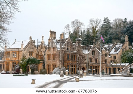 country house in England - stock photo