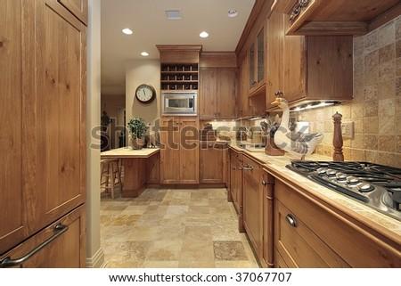 Country kitchen in condominium - stock photo