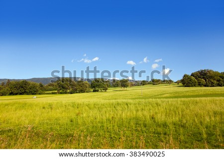 Country landscape from France, region Savoy