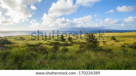 Country Landscape on Tropical Island