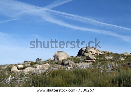 Country mountain Landscape - stock photo