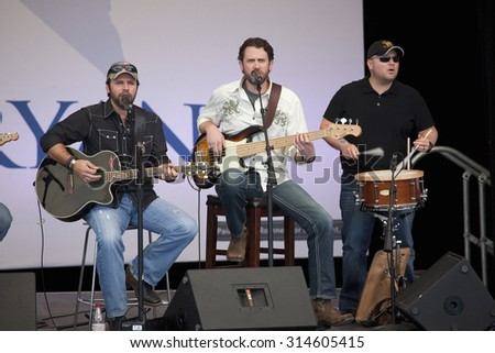 Country musicians perform for Governor Mitt Romney, the 2012 Republican Presidential Candidate, Presidential Campaign rally in Henderson, Nevada, Henderson Pavilion, October 23, 2012  - stock photo