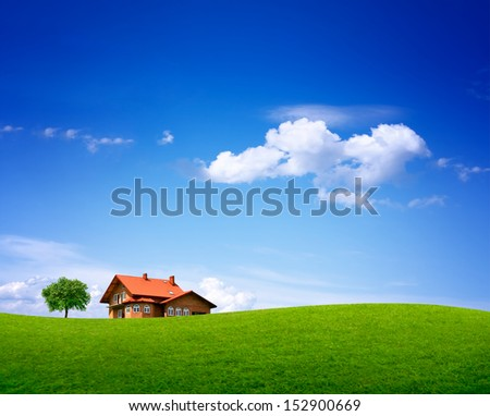 Country nature landscape - stock photo